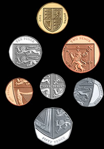 New British coins in formation
